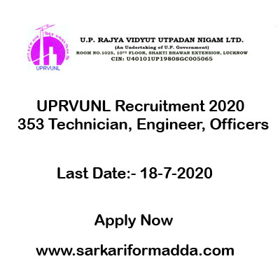 UPRVUNL-Recruitment